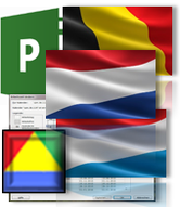Calendar Set Belgium, Netherlands and Luxembourg (BeNeLux) for Microsoft.Project